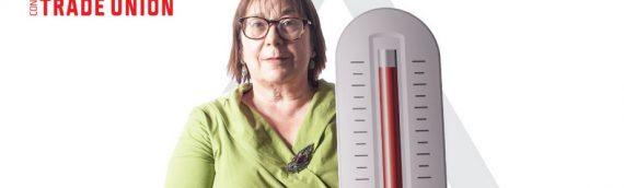 Kampanja ETUC za evropsko najvišjo dovoljeno temperaturo na delovnem mestu